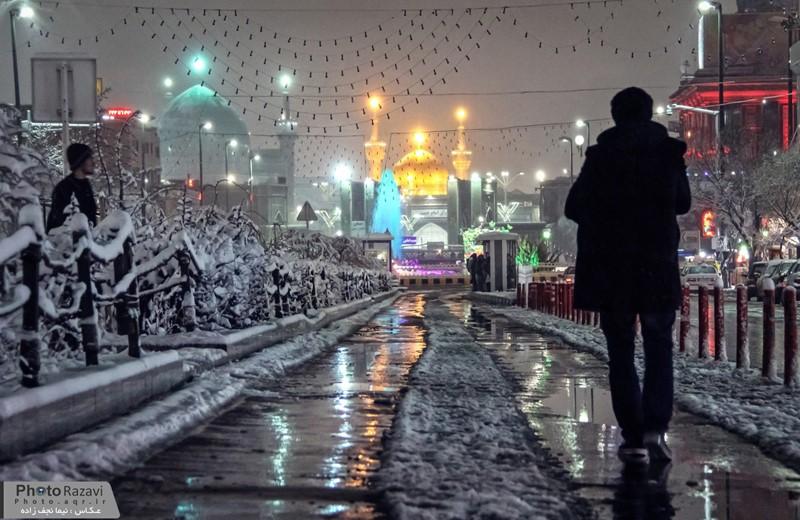 سلام به امام رضا در شب برفی