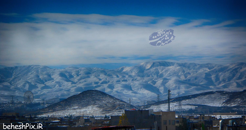 تصویر زیبا از بینالود برفی