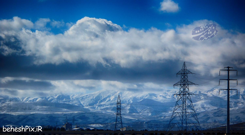 کوه های برفی مشهد