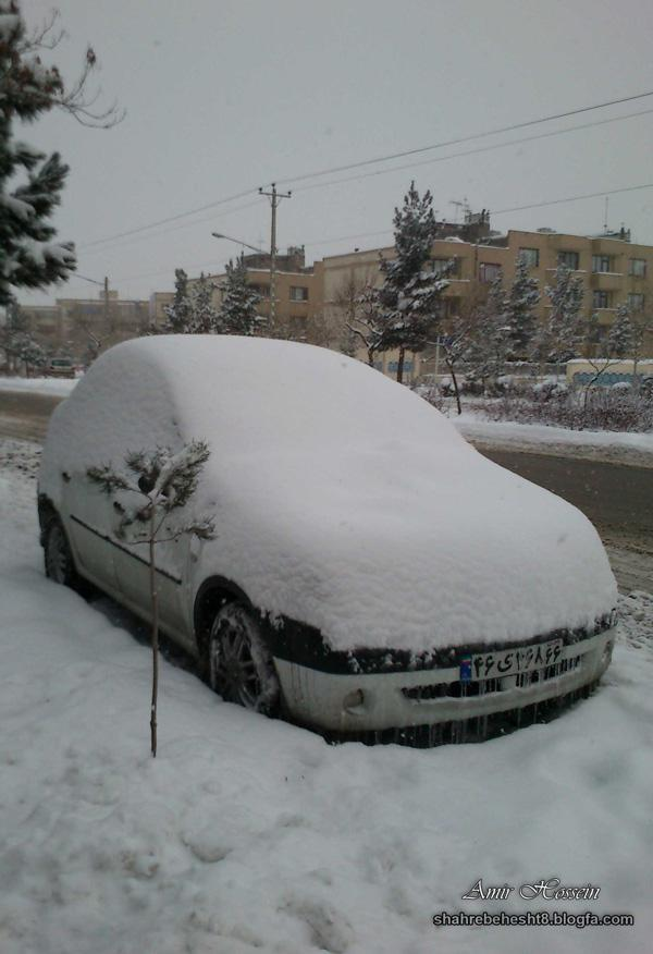 یک روز برفی زیبا در مشهد
