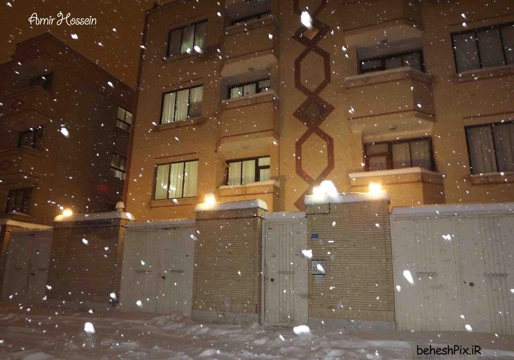 یک شب زیبای برفی - بلوار مجیدیه