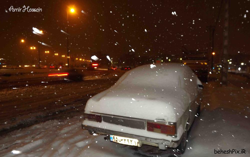 شب برفی میدان هفتم آذر