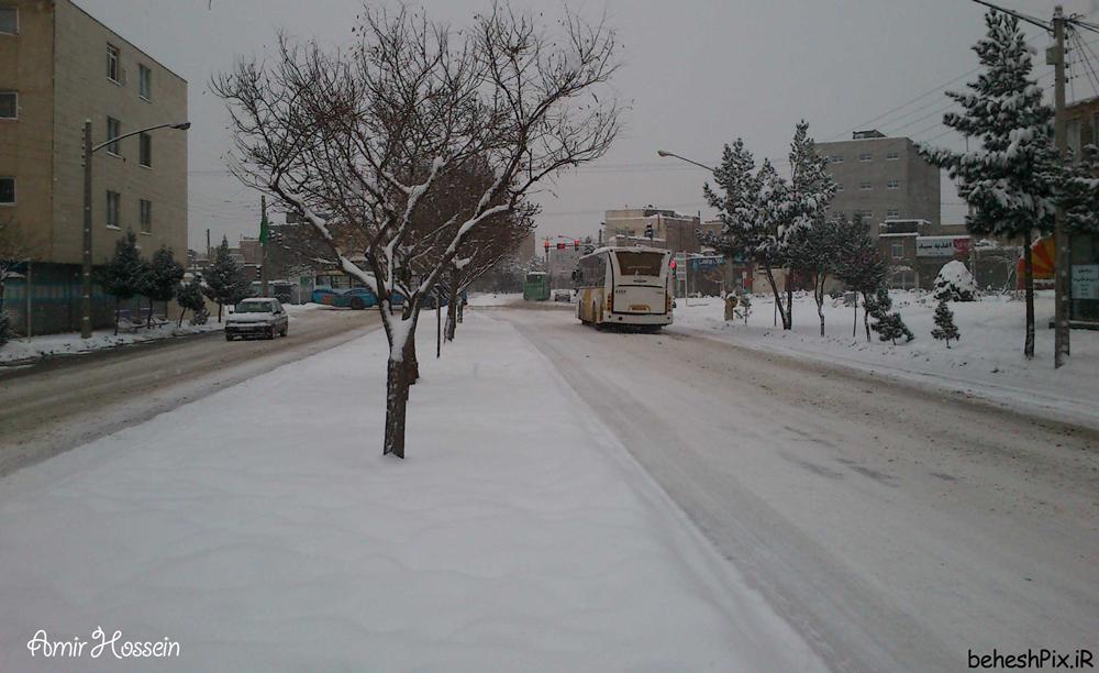 روز های برفی مشهد