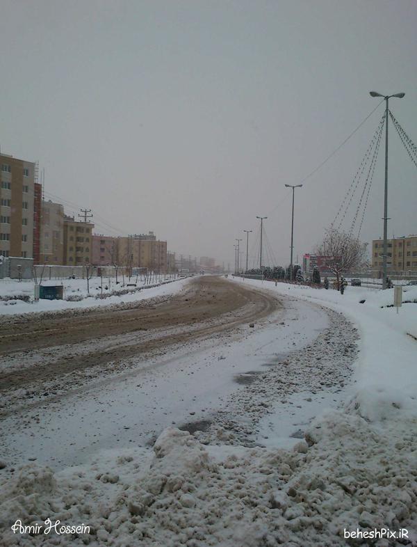 برف در شهرک غرب مشهد
