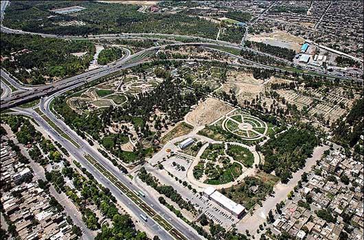 تصویر هوایی از باغ گیاه شناسی مشهد