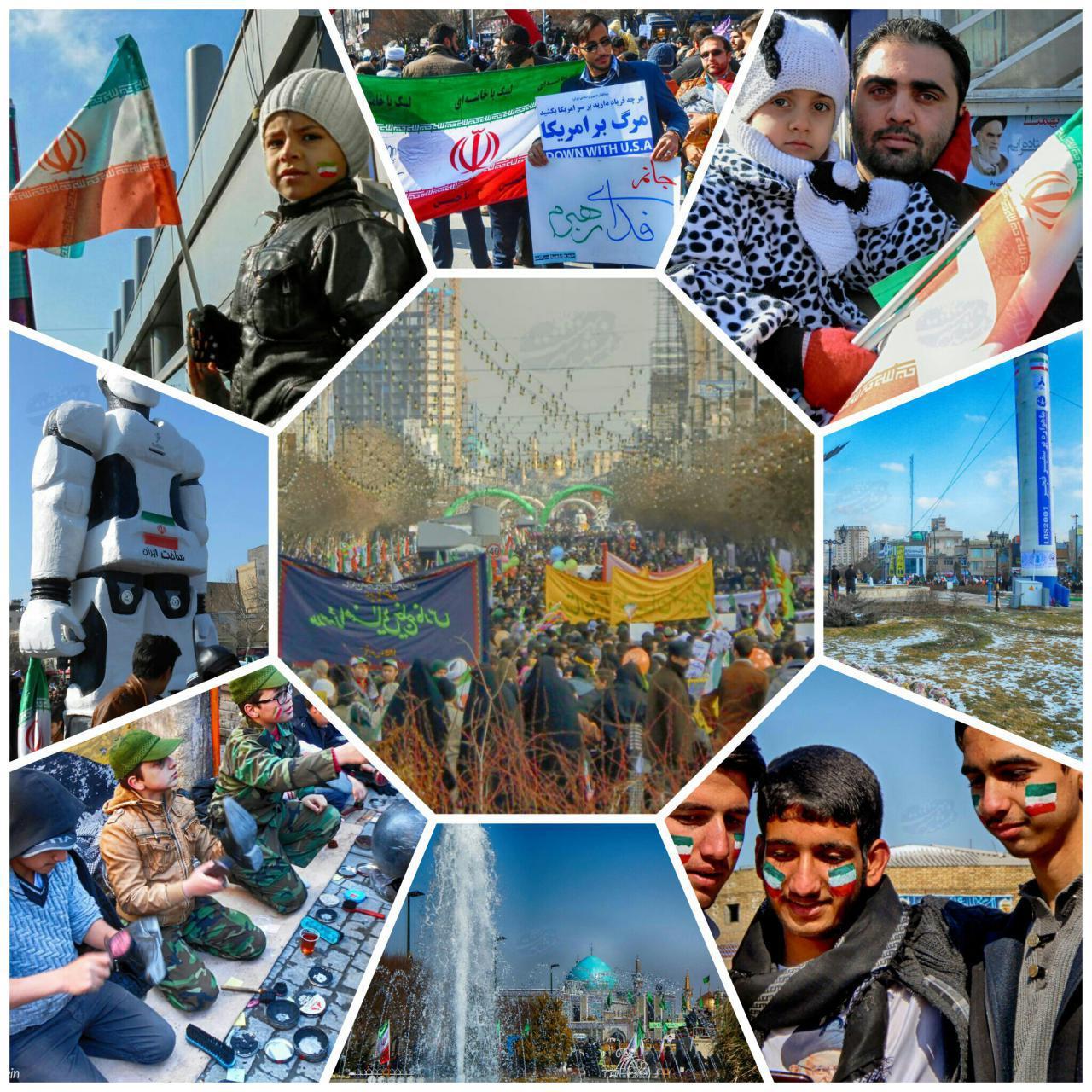 مشهد در راهپیمایی 22 بهمن