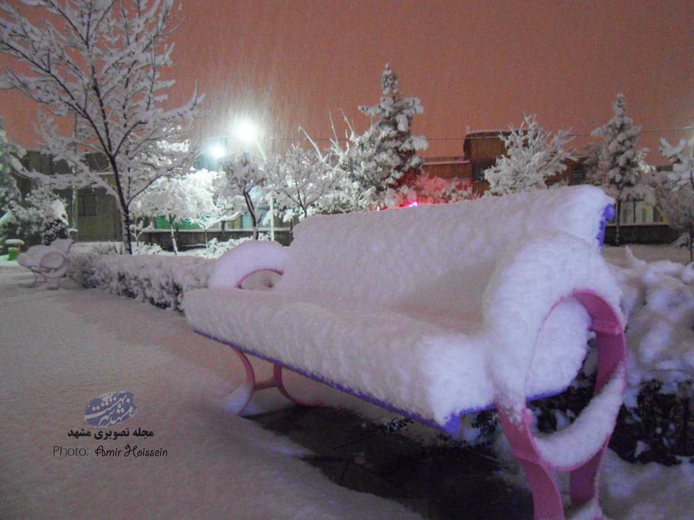 میزان بارش برف مشهد