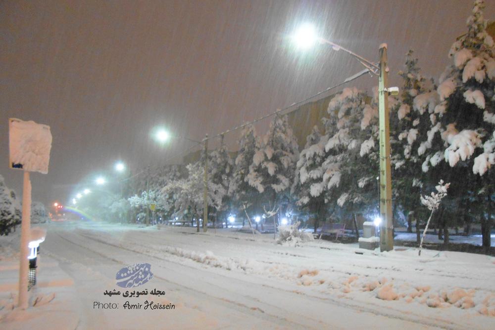 شدیدترین برف مشهد