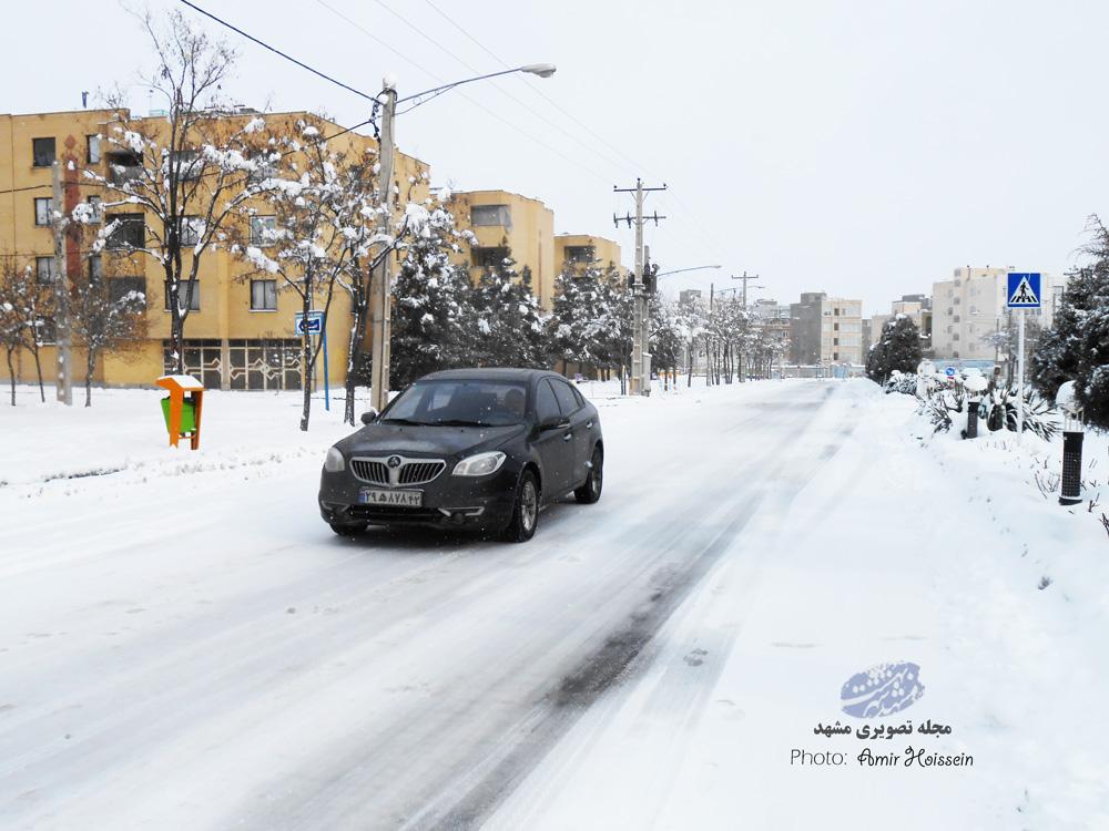 اسکی سواری در خیابان مشهد