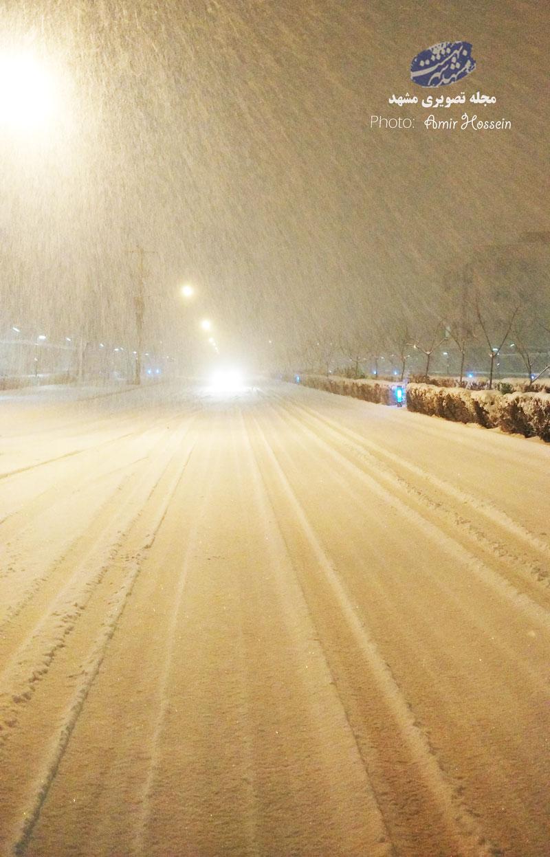 شب برفی در بلوار مجیدیه