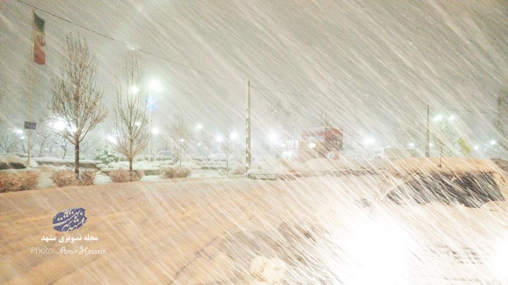 طوفان شدید برف  (ایران - مشهد)