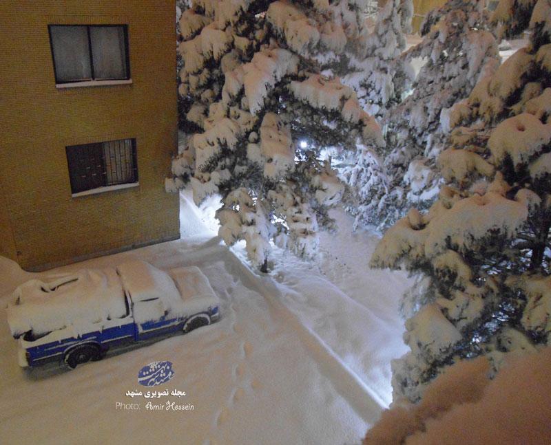 ارتفاع بی سابقه برف در مشهد ( خراسان رضوی )