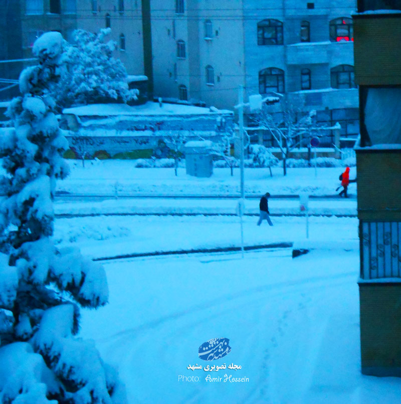 یک ساعت تاخیر ادارات مشهد به دلیل برف سنگین
