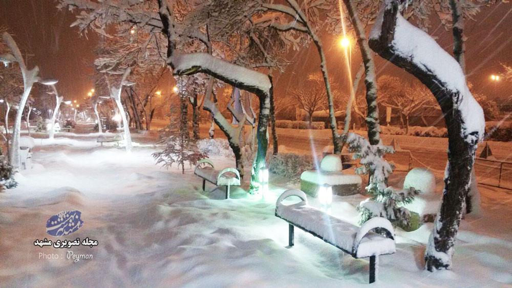 برف بی سابقه در مشهد